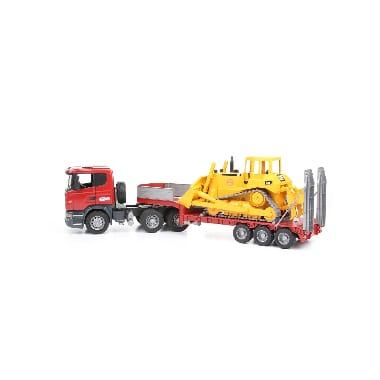 Rotaļu kravas automašīna Scania + CAT buldozers