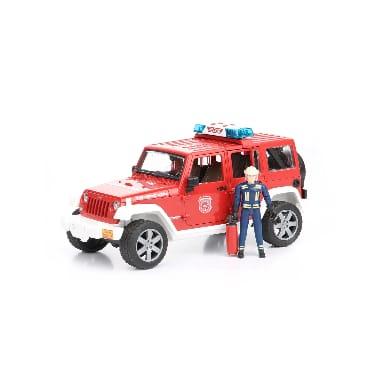 Rotaļu ugundzēsēju auto ar ugunsdzēsēju, Jeep Wrangler