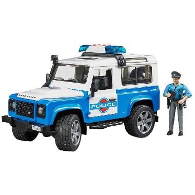 Rotaļu policijas automašīna ar policistu, Land Rover