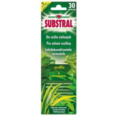 Mēslojuma stienīši Vital-aktiv zaļajiem augiem Substral, 30 gab.