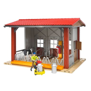 Rotaļu ferma ar strādnieku