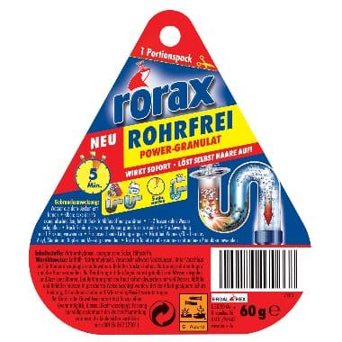 Sifonu tīrīšanas granulas Rorax, 60 g