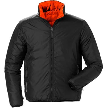 Divpusēja jaka 4012 Fristads, melna/oranža