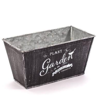 Metāla kaste, melna, 22 cm