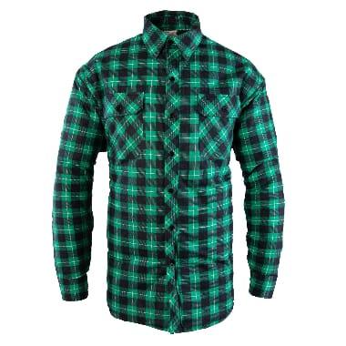 Flaneļa krekls siltināts Bono, zaļš
