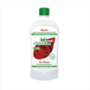 Mēslojums Rozēm ar humusvielām Green OK, 750 ml