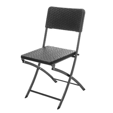 Saliekams krēsls 4living Plaza, melns