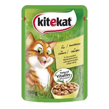 Kaķu barība ar cāļa gaļu Kitekat, 100 g