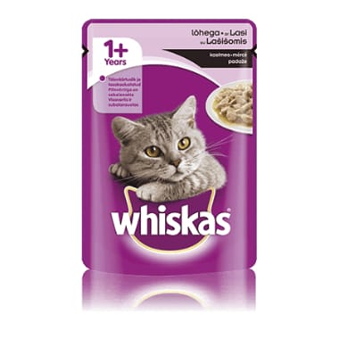 Kaķu barība ar lasi Whiskas, 100 g