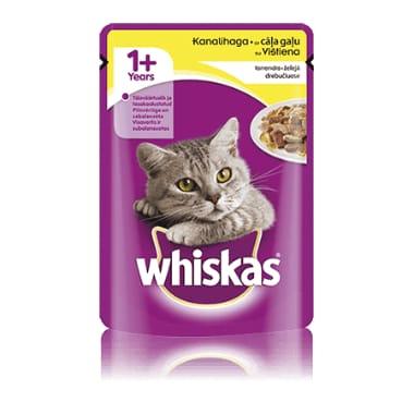 Kaķu barība ar cāļa gaļu Whiskas, 100 g