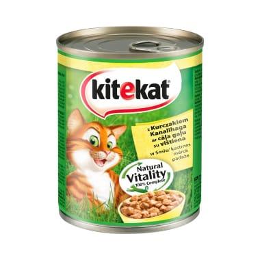 Kaķu konservi ar cāļa gaļu Kitekat, 800 g