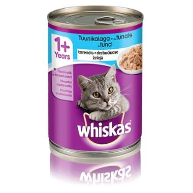 Kaķu konservi ar tunci Whiskas, 400 g