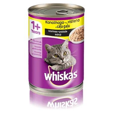 Kaķu  konservi ar cāļa gaļu Whiskas, 400 g