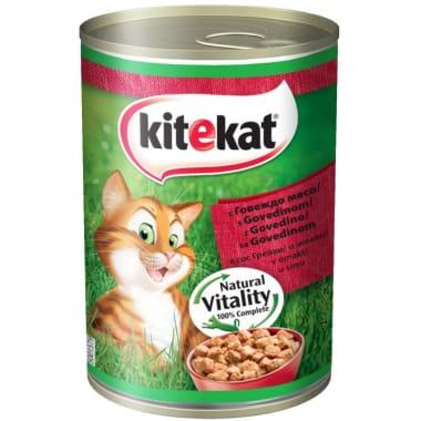 Kaķu barība ar liellopu Kitekat, 400 g