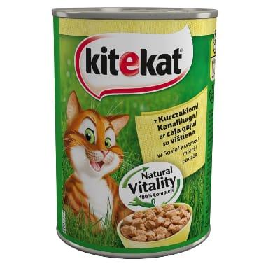 Kaķu barība ar cāļa gaļu Kitekat, 400 g