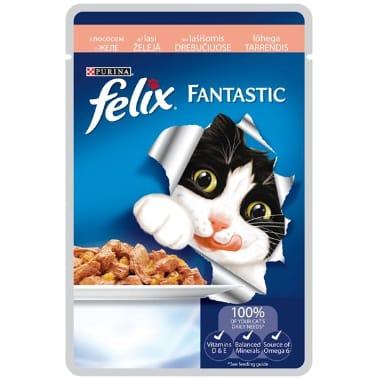 Kaķu barība ar lasi Felix, 100 g