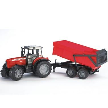Rotaļu traktors Massey Ferguson ar piekabi 7480