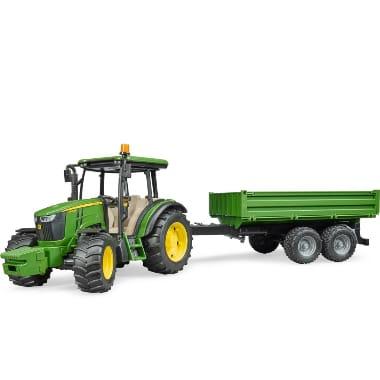 Rotaļu traktors ar piekabi, John Deere 5115M