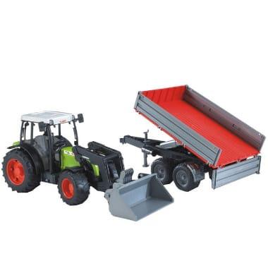 Rotaļu traktors ar frontālo iekrāvēju un piekabi, Claas Nectis 267F