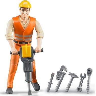 Rotaļu cilvēks - celtnieks ar instrumentiem