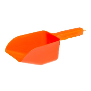 Plastmasas barības lāpstiņa oranža
