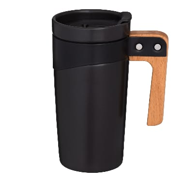 Termokrūze melna ar koka rokturi Maku, 500 ml