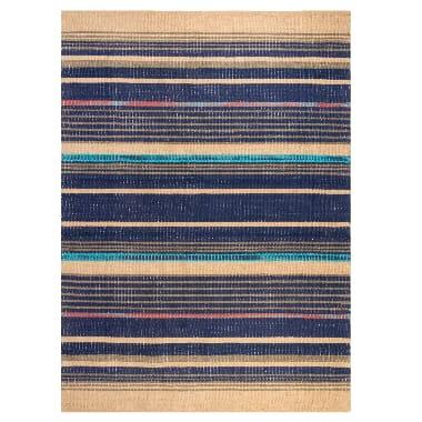 Džutas paklājs, 4living, zils, 80 x 200 cm