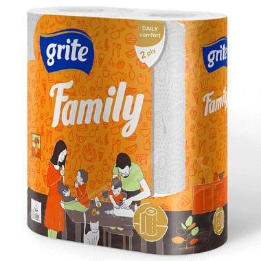 Papīra dvielis Grite Family, 2 ruļļi