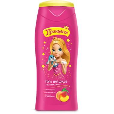 Bērnu dušas želeja ar persiku eļļu Princessa, 250 ml