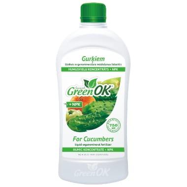 Mēslojums gurķiem ar humusu Green OK, 750 ml