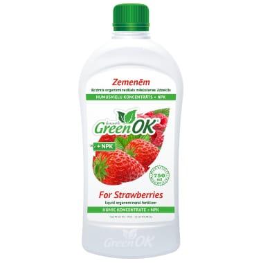 Mēslojums zemenēm ar humusvielām Green OK, 750 ml