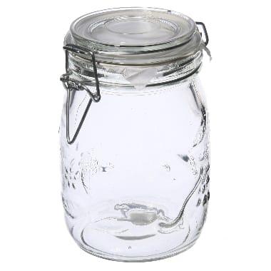 Stikla burka uzglabāšanai, 1 L