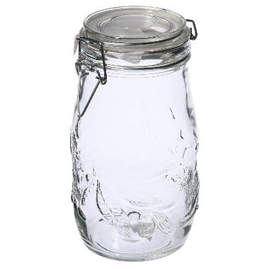 Stikla burka uzglabāšanai, 1,5 L