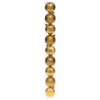 Egļu bumbas zelta 6 cm, 9 gab.