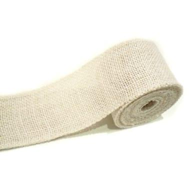 Džutas lenta balta, 2,5 cm