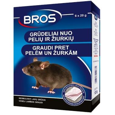 Graudi pret pelēm un žurkām Bros,120 g