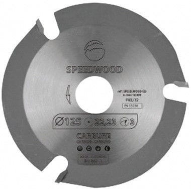 Diska asmens ripzāģim, Leman, Ø 125x22,2 mm, 3 zobi