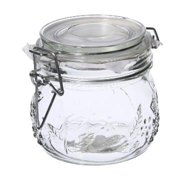 Stikla burka uzglabāšanai, 0,5 L