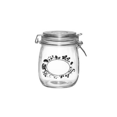 Stikla burka ar sēņu ornamentiem Marjukka, 700 ml