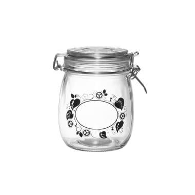 Stikla burka ar gurķu ornamentiem Marjukka, 700 ml