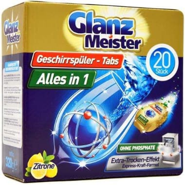 Tabletes trauku mašīnai, Glanz Meister, 20 gab.