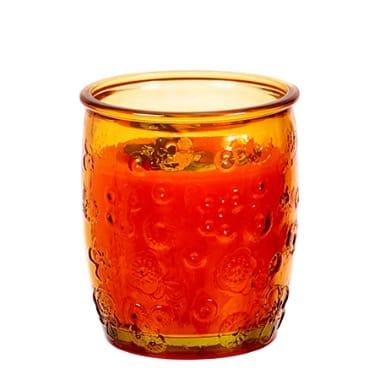 Svece stikla traukā oranža, Spaas