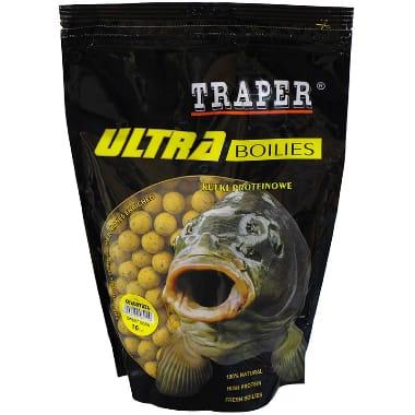 Papildbarība zivīm, boilas kukurūza 16 mm Traper, 500 g