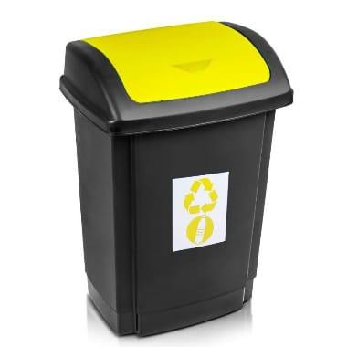 Atkritumu konteiners melns-dzeltens Plast team, 25 L