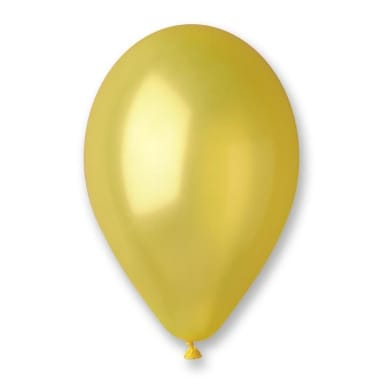 Baloni metāliski dzelteni Gemar, 100 gab.