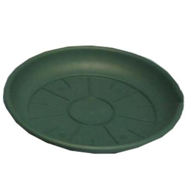 Puķu podu paliktnis, zaļš, 22 cm