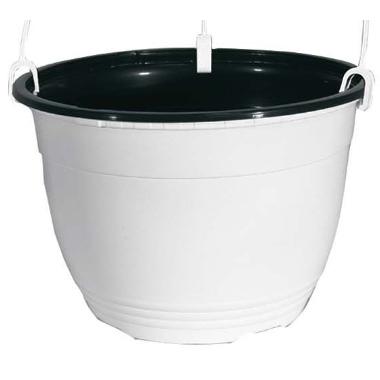 Iekarināms puķu pods, balts, 19 cm