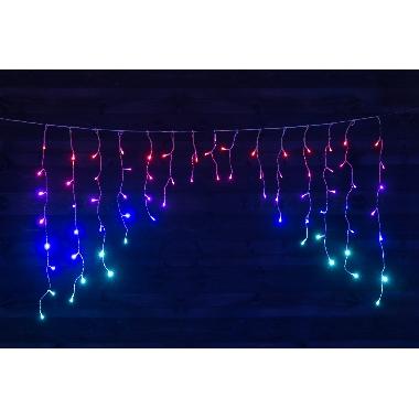 Lampiņu aizkari krāsaini Finnlumor, 72 LED