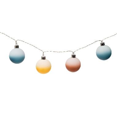 Lampiņu virtene 10LED bumbiņas matētas, Finnlumor