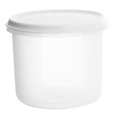 Uzglabāšanas trauks balts Margerit, Plast team, 1 L